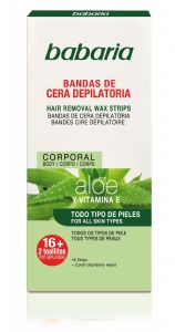 Babaria Aloe Vera Hair Removal Wax Strips for the body 16 units